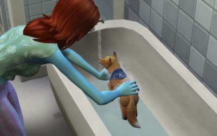 Wer sich gern in Pipi wälzt, braucht häufiger ein Bad / © Maxis, EA