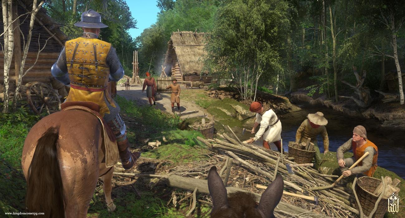 E3_2017_Kingdom_Come_Deliverance_Screenshot_Woodcutters_logo